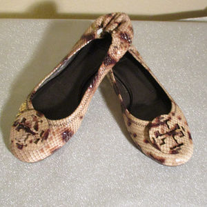 TORY BURCH ANIMAL PRINT REVA FLATS ~ 9 ~